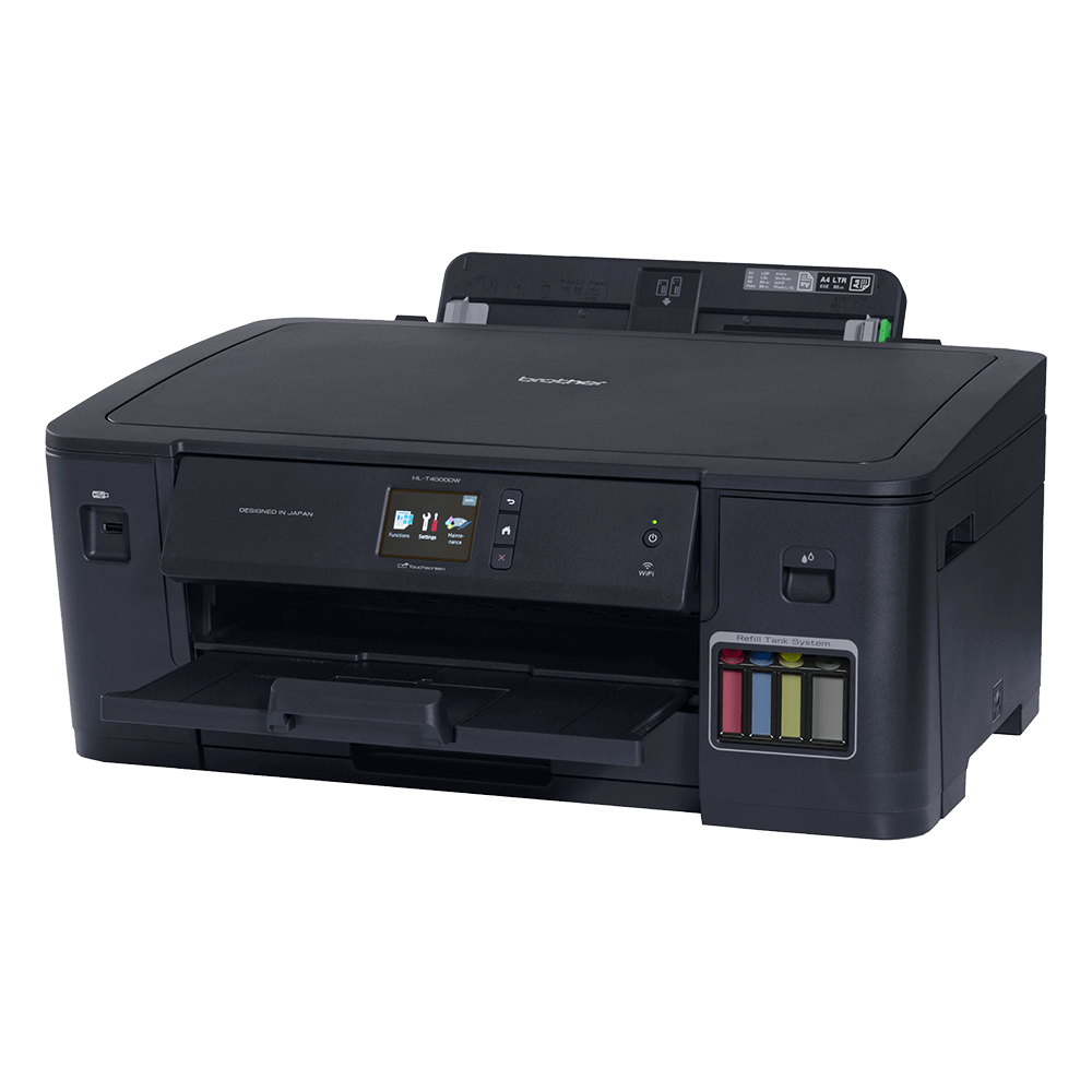 Impressora Convencional Brother Inkbenefit Tank Hl-t4000dw Jato de Tinta Colorida Wi-fi