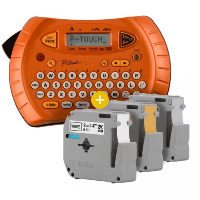 Kit Rotulador Brother PT-70 + 3 Fitas M