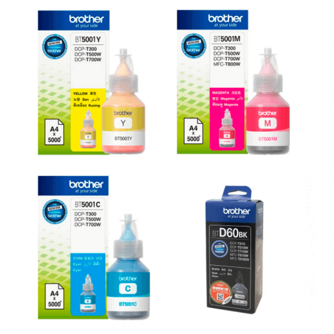 Kit Refis de Tinta Brother para T300, T500, T700 e T4000