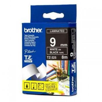 Fita Brother TZE-325 9mm Branco/Preto