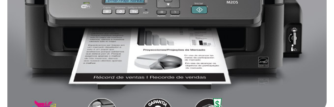 Multifuncional Monocromática Epson WorkForce M205