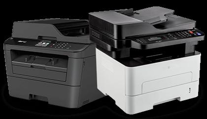 imagem de duas impressoras lado a lado